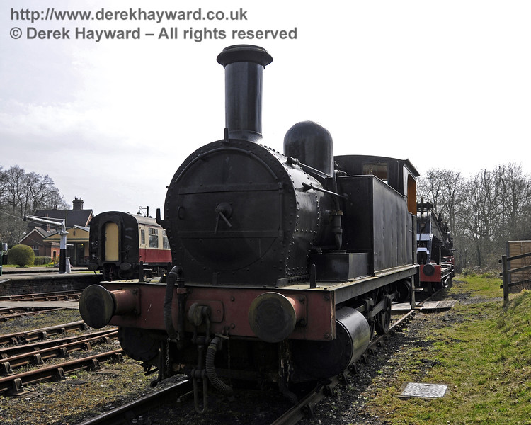 The North London Railway Goods Tank, 27505, has been transferred to Horsted Keynes for storage, and is currently in average cosmetic condition.  Since this picture was taken it has been moved to a more remote position out of public view.  10.04.2015  12158