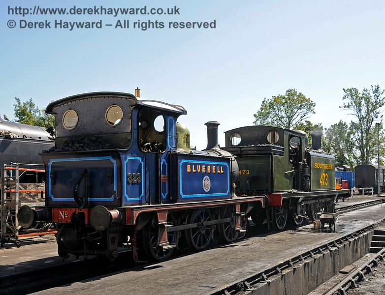 323 and B473 on shed at Sheffield Park. 22.08.2015 13707
