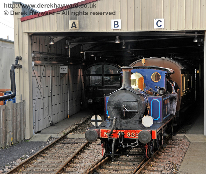 323 shunts the Carriage Shed at Sheffield Park. 04.10.2015 13823