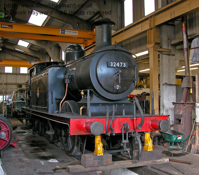 32473 under repair in Sheffield Park Workshops.  01.09.2006