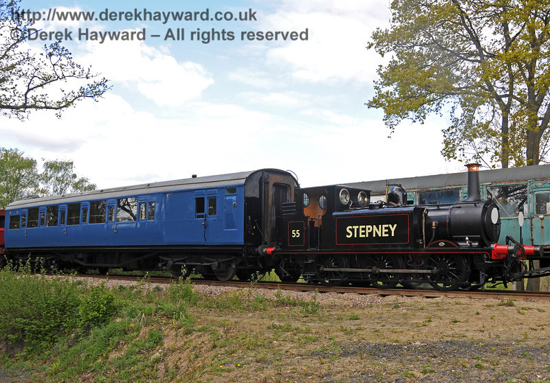 55 Stepney waits to emerge from the Ardingly spur. 17.05.2010  2532