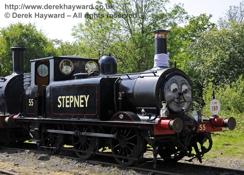 55 Stepney on display at Horsted Keynes during a Stepney Club event to celebrate the engine's 139th birthday.  18.05.2014  10548