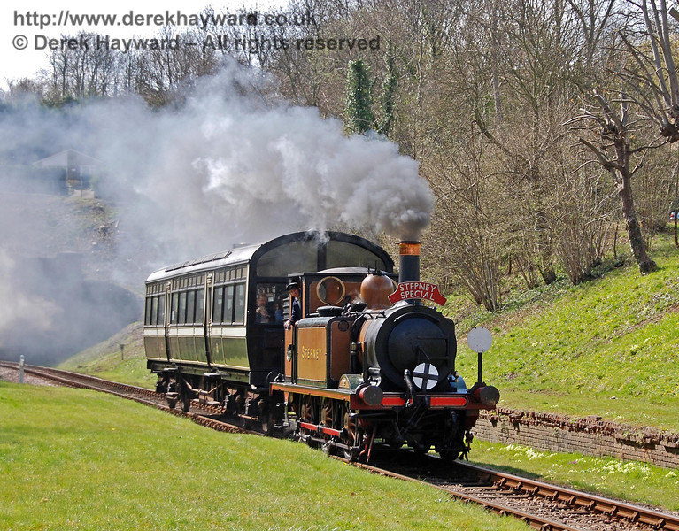 Stepney runs through the site of West Hoathly station. 10.04.2008