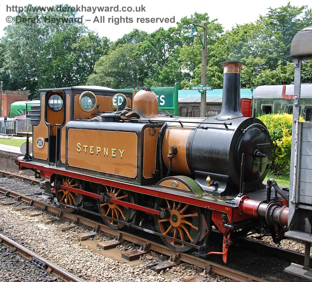 Stepney awaits the return of the crew from the Footplate Days and Ways course at Horsted Keynes. 14.07.2007