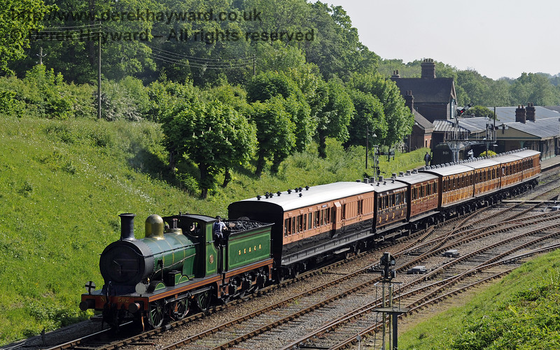 592 steams north from Horsted Keynes.  18.05.2014  9471