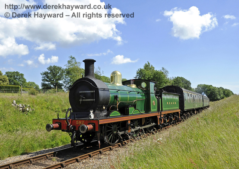 592 near Freshfield on the back of a train being used for commercial filming for television.  19.06.2012  5157