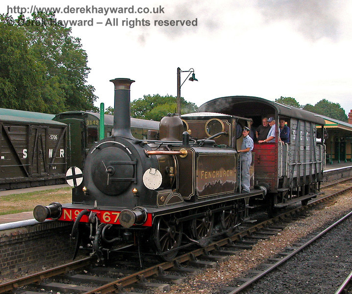 672 Fenchurch at Horsted Keynes with a Footplate Days and Ways course.  29.07.2006