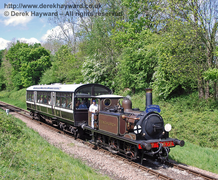 672 Fenchurch near Ketches Halt with a Bluebell Special. 08.05.2007  0042