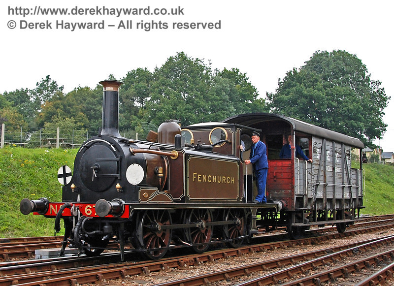 672 Fenchurch north of Horsted Keynes with a Footplate Days and Ways course. 08.09.2007