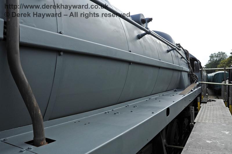 92240 in grey undercoat at Horsted Keynes.  24.09.2011  2952