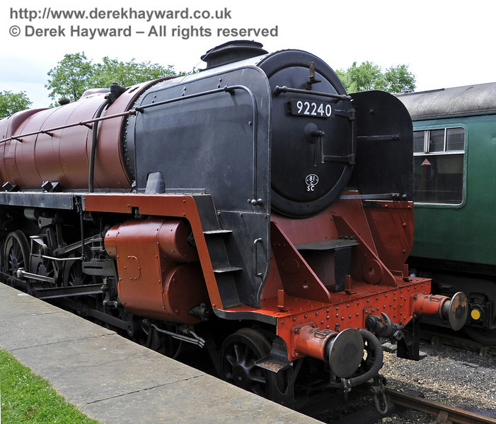 92240 being repainted at Horsted Keynes.  30.05.2012  4923