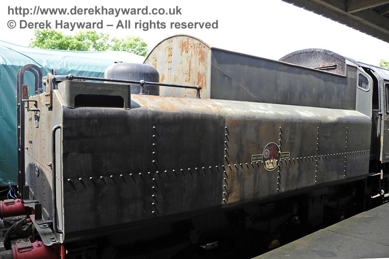 75027 being repainted at Horsted Keynes.  30.05.2012  4931