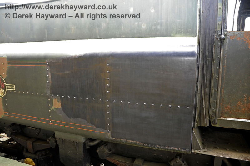 A close up of the prepared end of the tender of 75027.  Horsted Keynes. 20.03.2012   3860