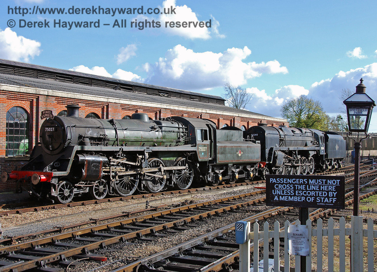 75027 and 92240 on display adjacent to Sheffield Park Shed.  17.10.2008
