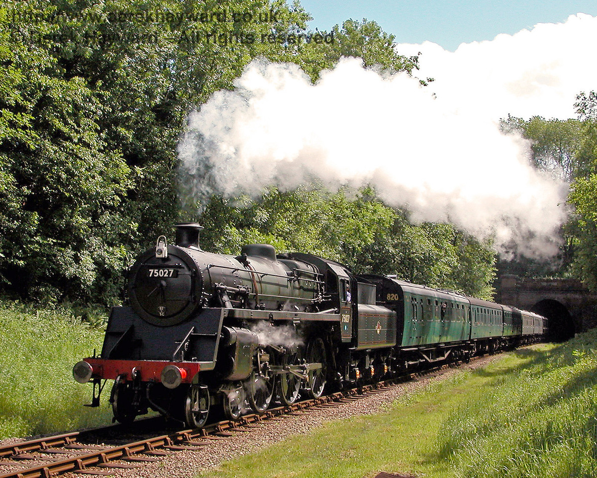 75027 rushes north from West Hoathly Tunnel. 29.05.2006