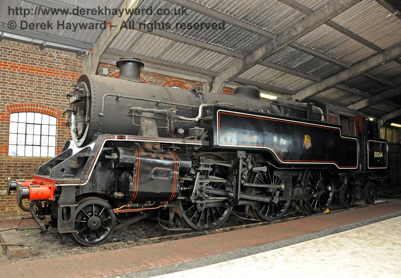 BR Standard Class 4 Tank, 80064, on display in Sheffield Park Shed 25.07.2010  3382