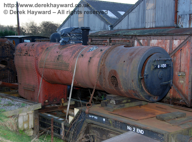 The boiler for BR Standard Class 2 84030, currently under construction. 14.01.2007