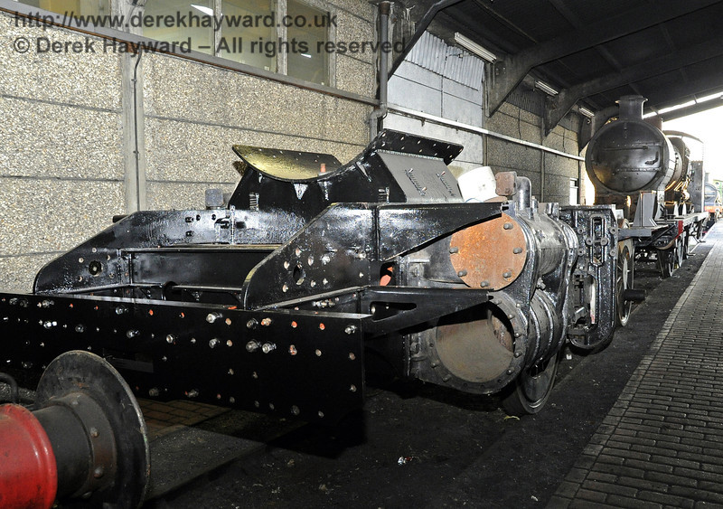 The front of the frames for 84030 in Sheffield Park shed.  19.02.2012  3662