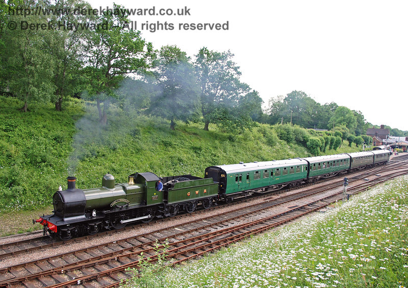 9017 Earl of Berkeley leaves Horsted Keynes with a service train. 03.06.2007