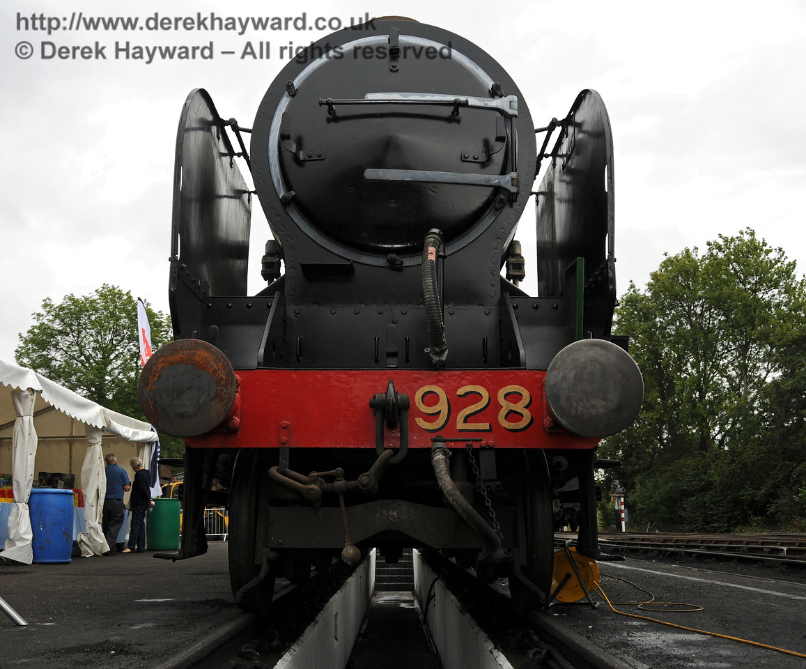 During the 50th Anniversary celebrations access was allowed under 928 Stowe. The engine looms above. Shefield Park 06.08.2010  3554