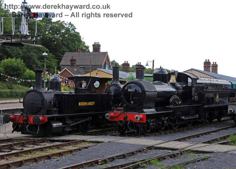 96 Normandy on display at Horsted Keynes with 9017. 24.07.2010  3251