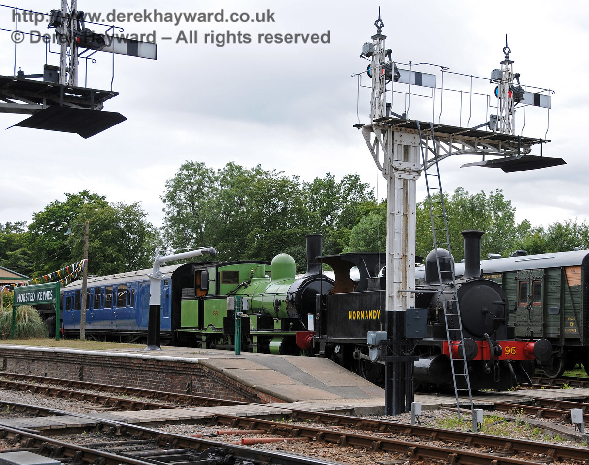 488 and 96 Normandy have been moved to Horsted Keynes and are now on display in Platform 1.  07.07.2010  3052