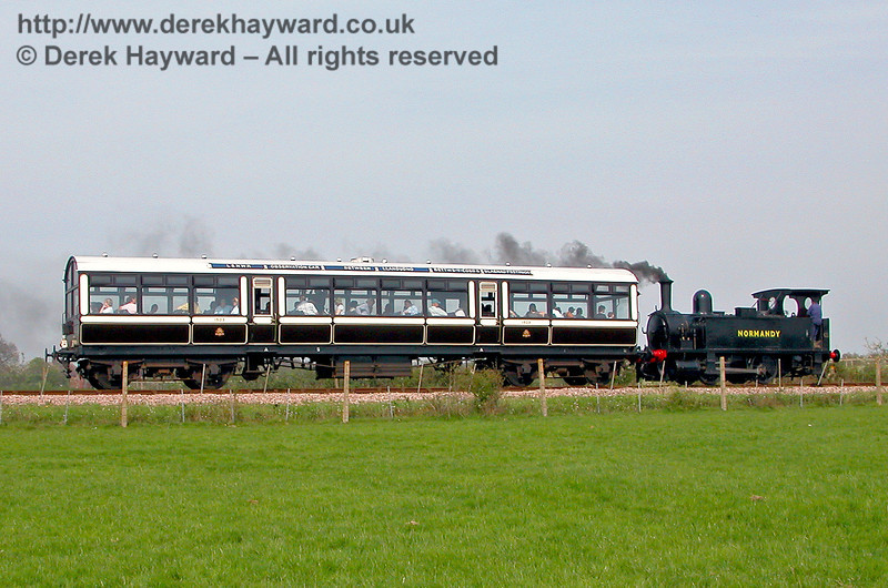 LSWR Adams Dock Tank 96 Normandy on a Bluebell Special north of Freshfield Bank shortly before being taken out of service. 04.05.2006