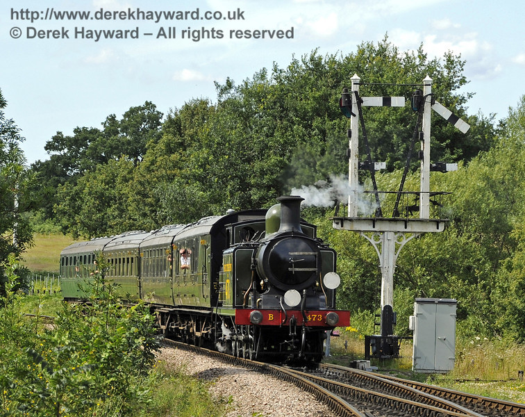 B473 approaches Sheffield Park with a service train.  24.07.2011  2372