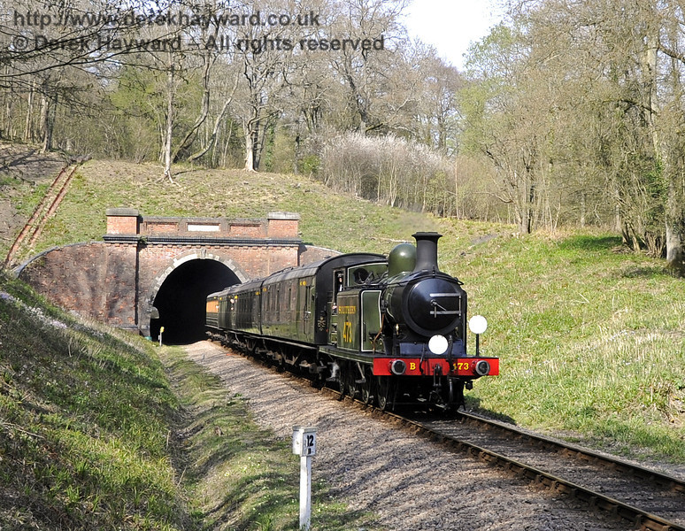 B473 steams away from the southern portal of West Hoathly Tunnel.  06.04.2012  4310