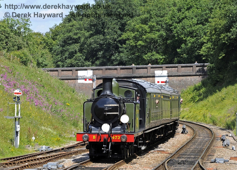 B473 approaches Horsted Keynes with a service train.  24.07.2011  7484