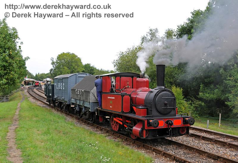 No. 3 Captain Baxter shunts a goods train at Kingscote.  15.08.2010  3898