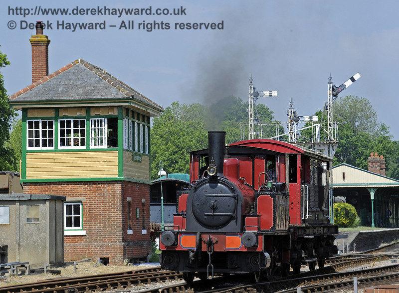 No. 3 Captain Baxter provides brake van rides at Horsted Keynes.  18.05.2014  9373
