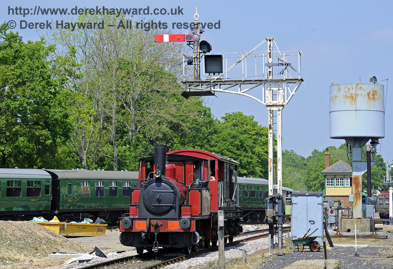 No. 3 Captain Baxter provides brake van rides at Horsted Keynes.  18.05.2014  9354