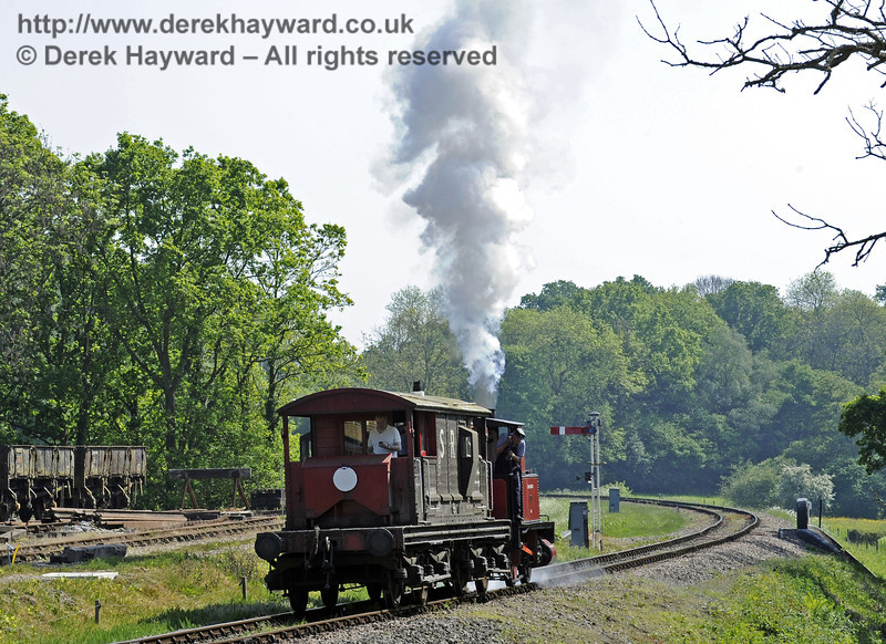 No. 3 Captain Baxter provides brake van rides at Horsted Keynes.  18.05.2014  9428