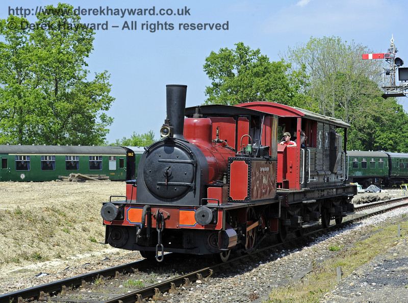 No. 3 Captain Baxter provides brake van rides at Horsted Keynes.  18.05.2014  9356