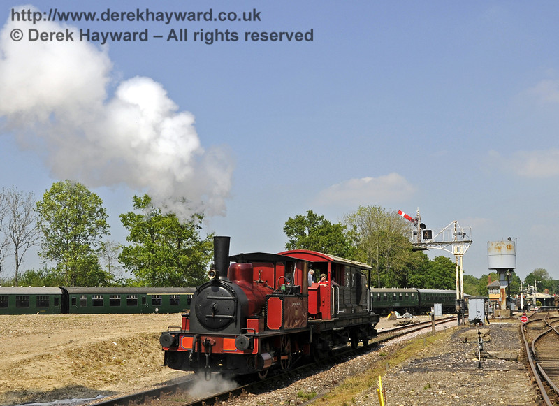 No. 3 Captain Baxter provides brake van rides at Horsted Keynes.  18.05.2014  10540
