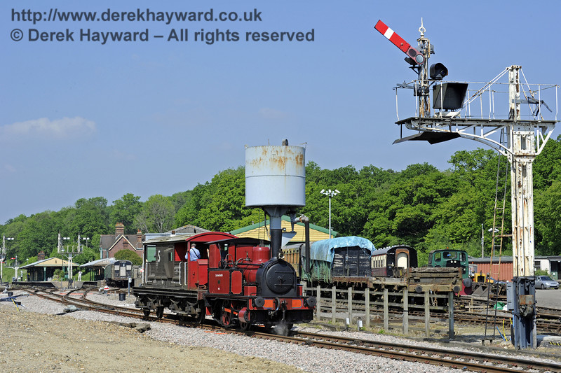No. 3 Captain Baxter provides brake van rides at Horsted Keynes.  18.05.2014  9433