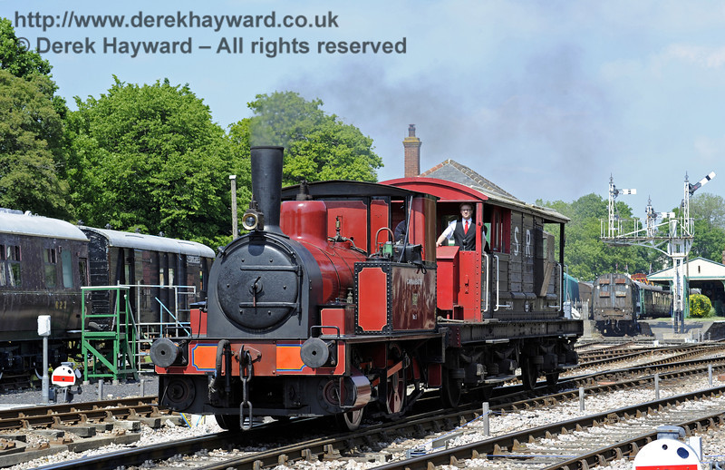 No. 3 Captain Baxter provides brake van rides at Horsted Keynes.  18.05.2014  9375