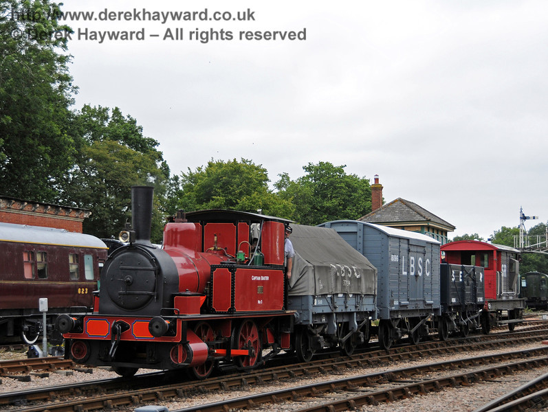 No. 3 Captain Baxter at Horsted Keynes with a goods train.  06.08.2010  3626