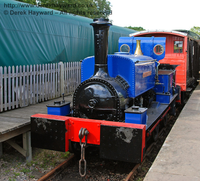 Sharpthorn in it's usual display position at the end of Platform 1 at Horsted Keynes. 12.08.2007