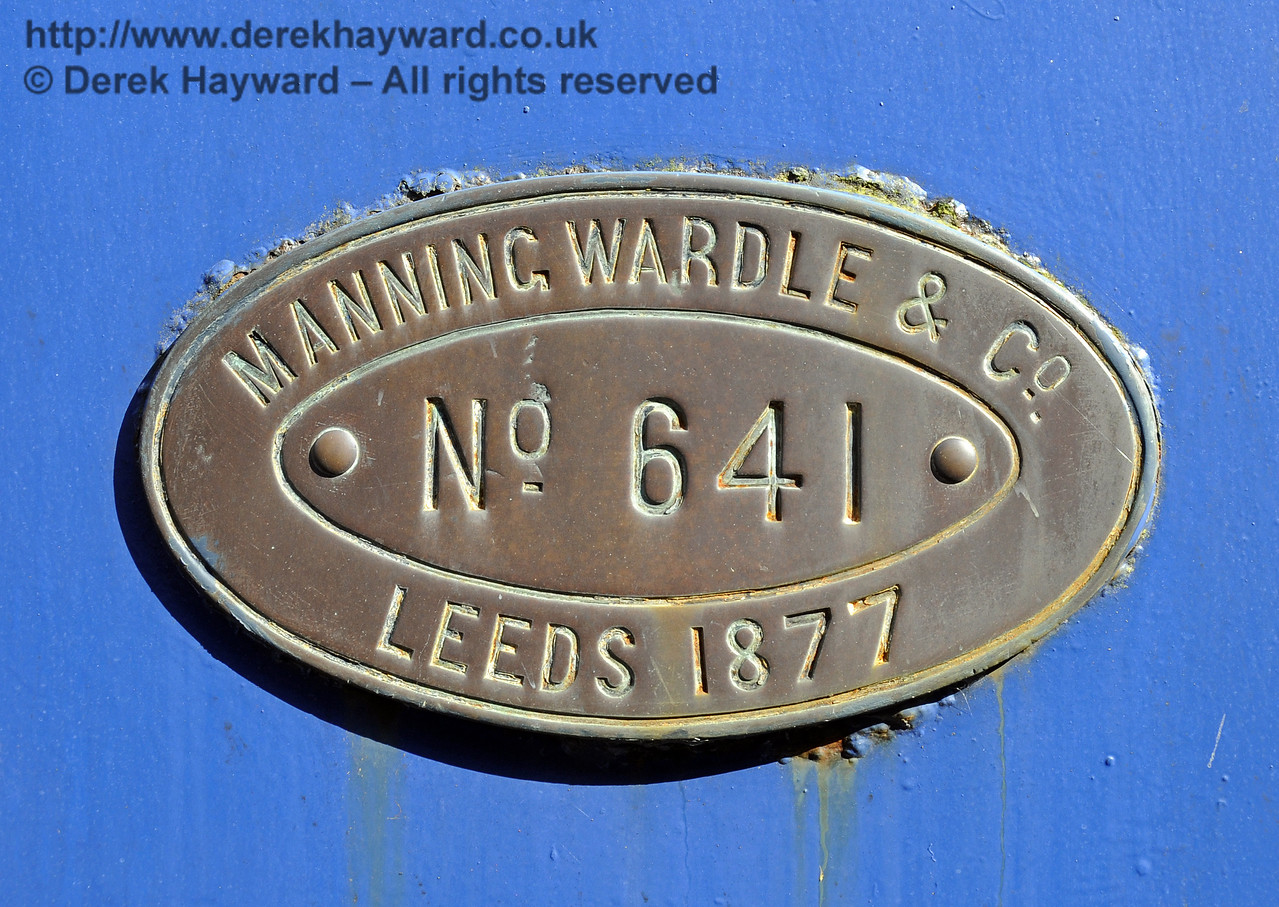 The manufacturers plate on Sharpthorn.  Horsted Keynes 23.08.2014  11587