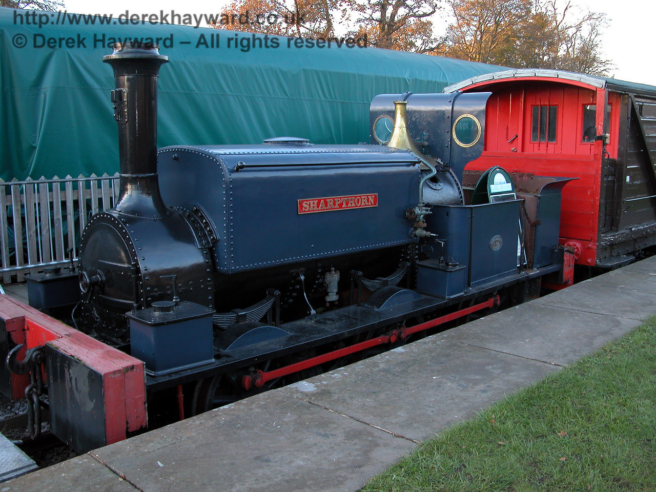 Sharpthorn, used by the contractors J T Firbank to build what is now the Bluebell Railway. Horsted Keynes 19.11.2005
