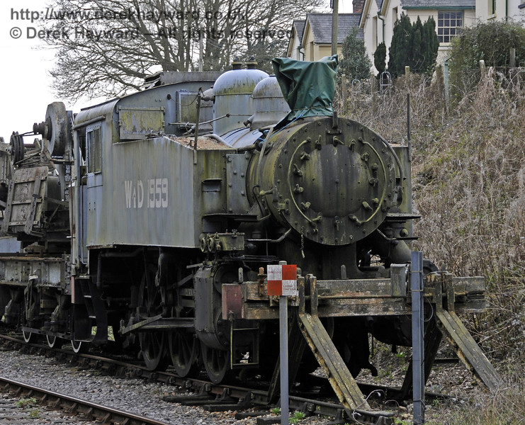 SR USA class Dock Tank No.WD 1959 is currently stored in the Up headshunt at Horsted Keynes.  The locomotive is in very poor condition.  10.04.2015  12178