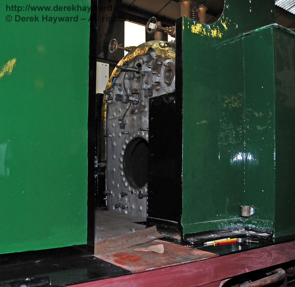 A glimpse on to the partially completed footplate. Sheffield Park Workshops 06.02.2010  362