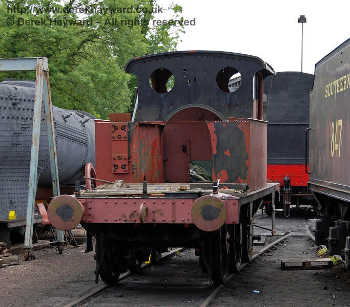 Dismantled P class, 178, outside Sheffield Park Shed 17.06.2009
