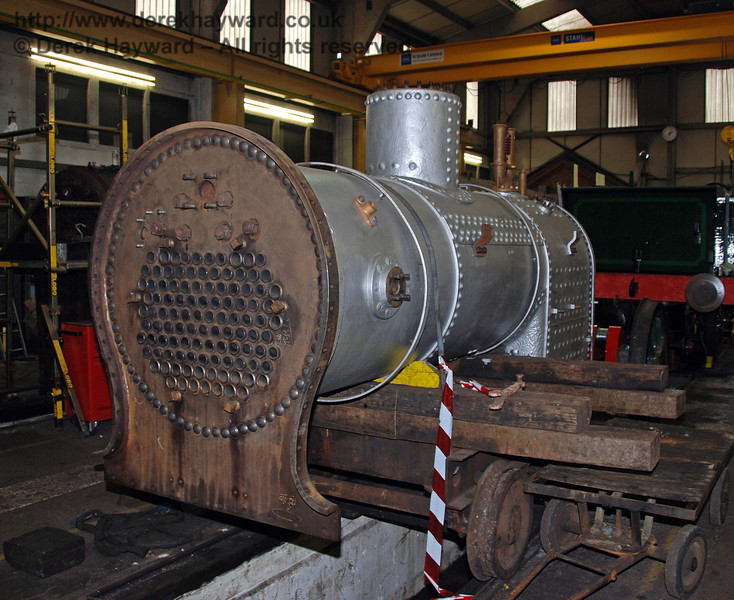 The boiler from 178 in Sheffield Park Workshops 24.01.2010