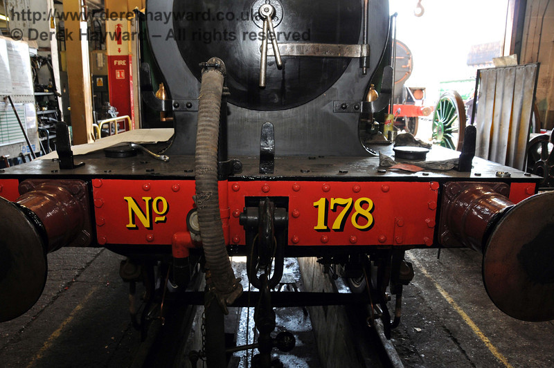 The new number has been applied to the front buffer beam. Sheffield Park Workshops 17.04.2010  1895