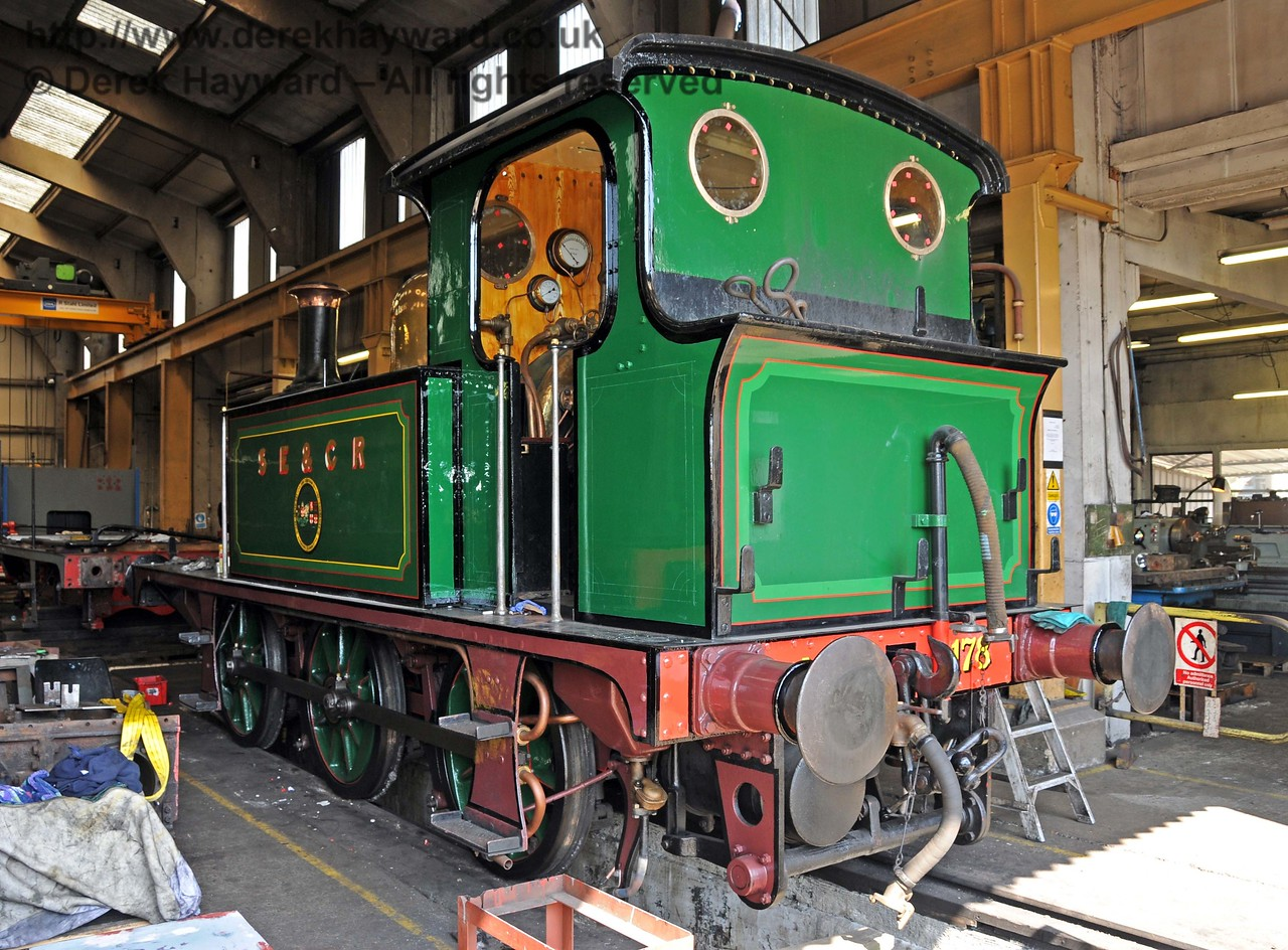 The rear nearside of 178. Note the new cab windows. Sheffield Park Workshops 17.04.2010  1894