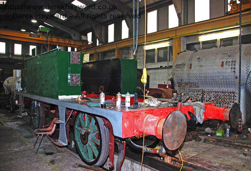The frames and tanks of 178 in Sheffield Park Workshops 24.01.2010