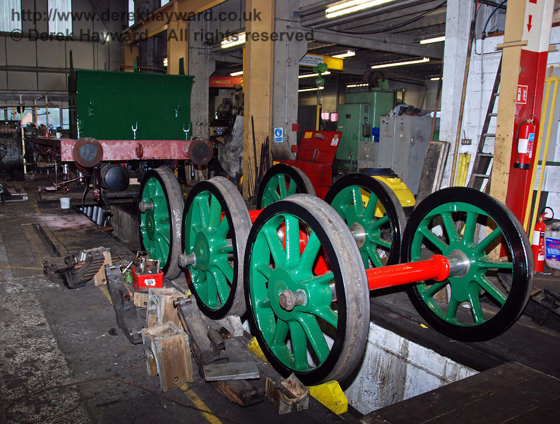 The wheels from 178 with the frames in the background. Sheffield Park Workshops 15.11.2009
